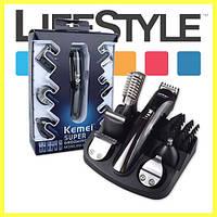 Машинка для стрижки волос Kemei KM-600. Триммер 11 в 1, фото 1