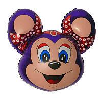 """Фольгированный шар мини-фигура Бабси Маус фиолетовый 14"""" 902585 FlexMetal"""