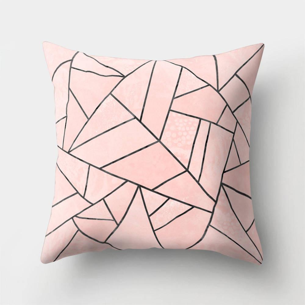 Подушка с принтом Розовая абстракция