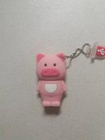 Флешка на 16 гб usb накопитель -розовая свинка свинья поросенок розовый