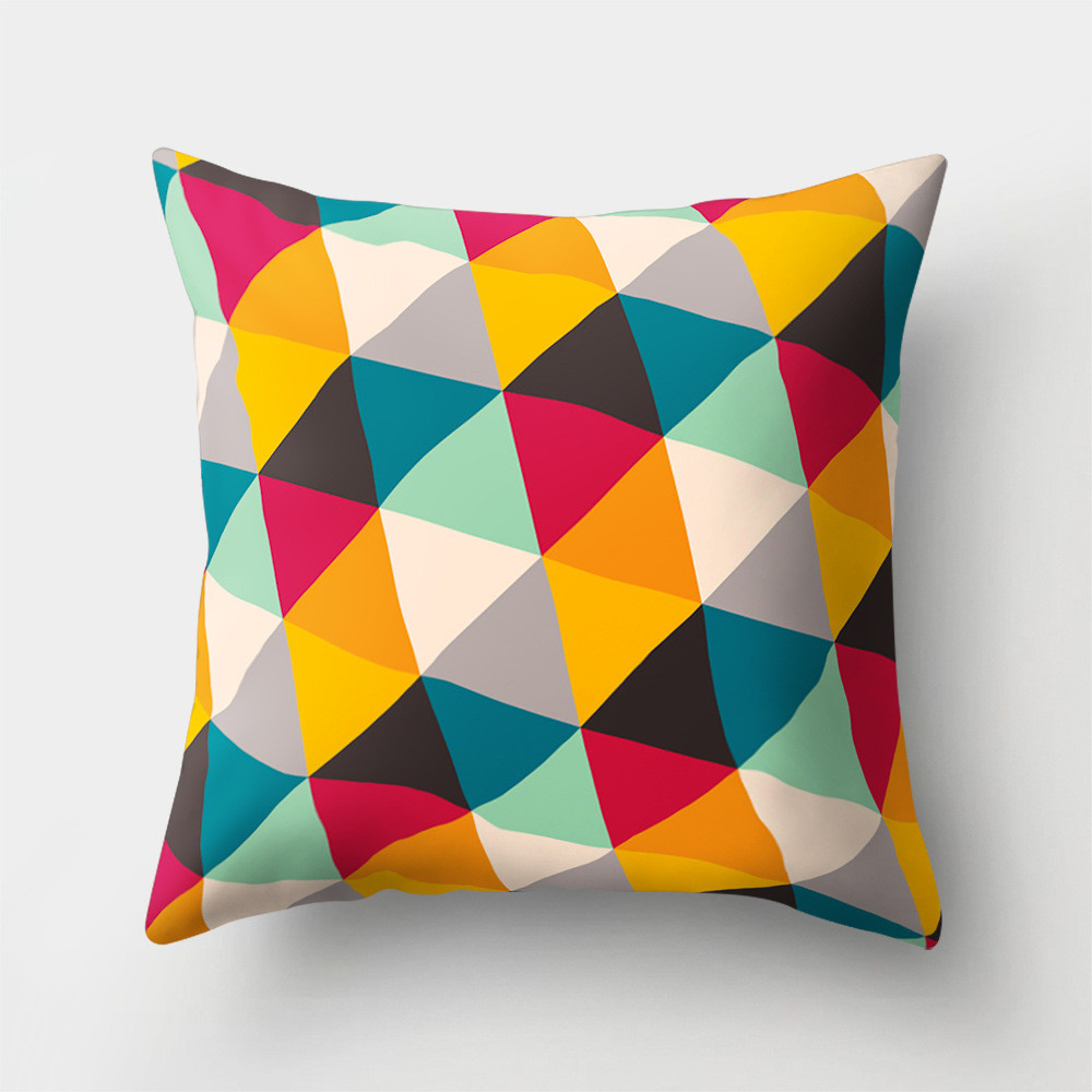 Подушка декоративная Разноцветные треугольники 45 х 45 см Berni