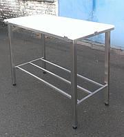 Стол для обвалки мяса с цельной полиамидной столешницей усиленный, фото 1