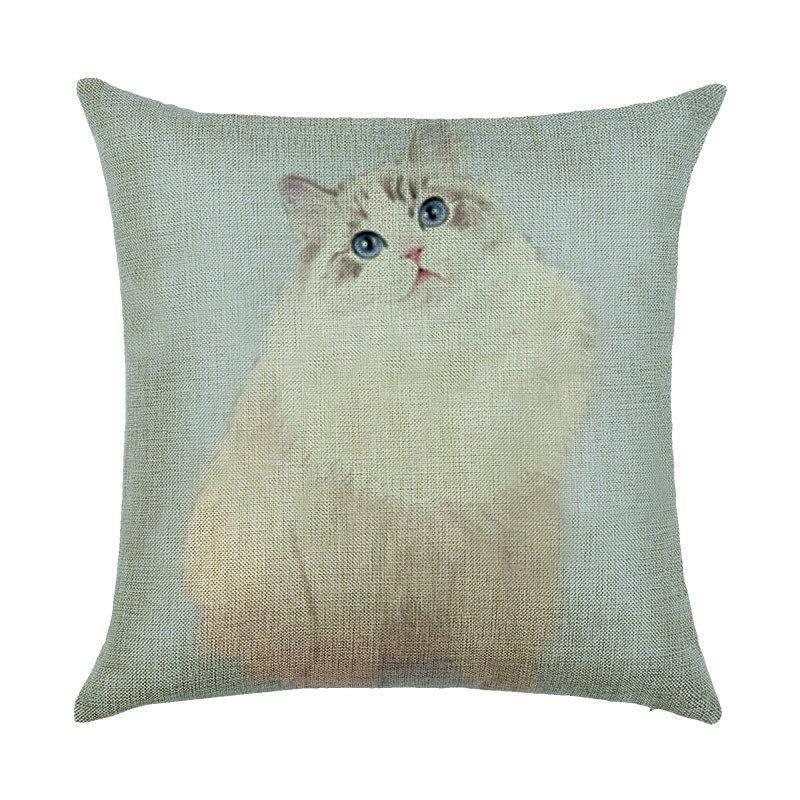 Подушка с принтомя Пушистая кошка