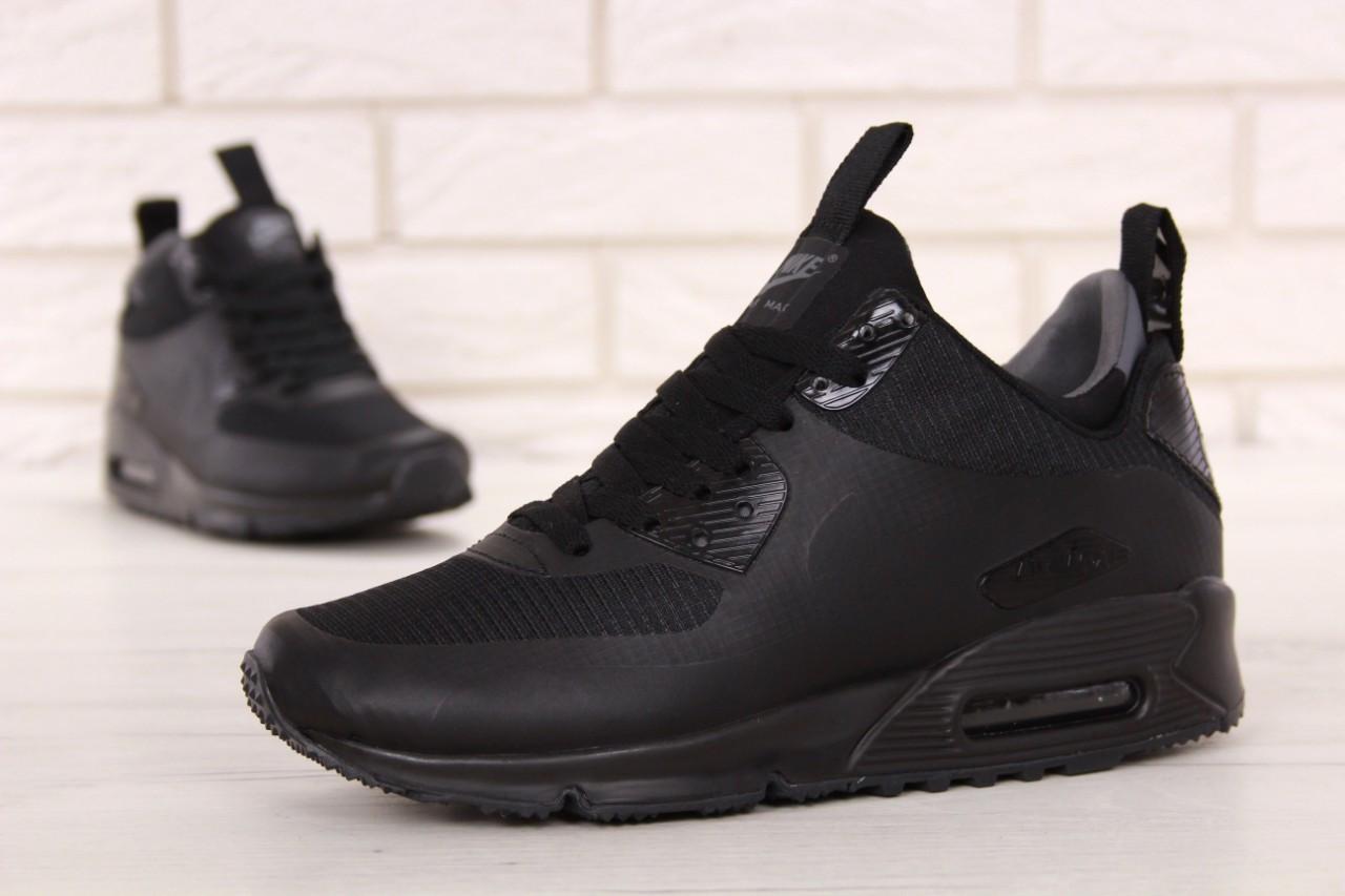 Кроссовки мужские Найк Nike Air Max 90 Mid Winter Black. ТОП Реплика ААА класса.