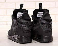 Кроссовки мужские Найк Nike Air Max 90 Sneakerboot Winter Black. ТОП Реплика ААА класса., фото 2