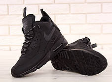 Кроссовки мужские Найк Nike Air Max 90 Sneakerboot Winter Black. ТОП Реплика ААА класса., фото 3
