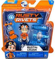Игровой набор Расти-Механик и Краш, Rusty Rivets - Rusty and Crush, фото 1