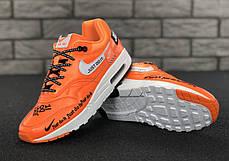 "Кроссовки мужские Найк Nike Air Max 1 ""Just Do It Orange. ТОП Реплика ААА класса., фото 2"