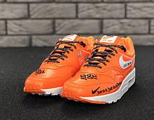 "Кроссовки мужские Найк Nike Air Max 1 ""Just Do It Orange. ТОП Реплика ААА класса., фото 3"