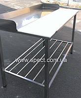 Односторонний стол для  обвалки, разделки мяса из нержавеющей стали