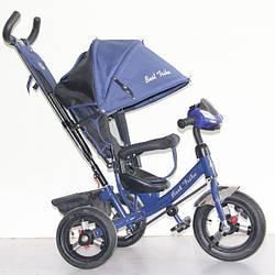 Трехколесный детский велосипед Best Trike 6588B (2018) (надувные колеса & фара)