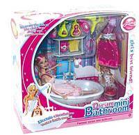 Мебель для ванной комнаты с куклами