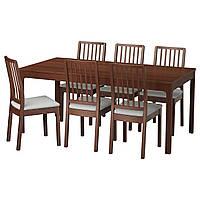 EKEDALEN / EKEDALEN Стол и 6 стульев