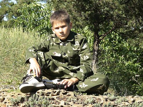 Детский военный костюм для мальчиков Кадет камуфляж Березка, фото 2