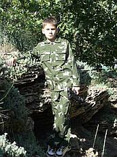 Детский военный костюм для мальчиков Кадет камуфляж Березка, фото 3