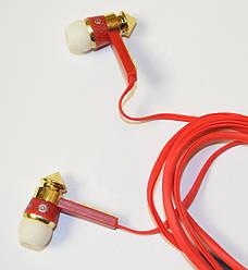 Наушники вакуумные проводные Monster Beat копия 3.5 мм красные