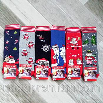 Носки детские махровые бамбук Новый год Монтекс, Турция, на 7 лет, ассорти, 02606