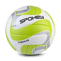 Волейбольный мяч Spokey Cumulus II размер 5 WhiteGreenSilver, КОД: 199259