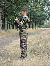 Комбинезон детский Лазертаг для мальчиков камуфляж Лес, фото 2