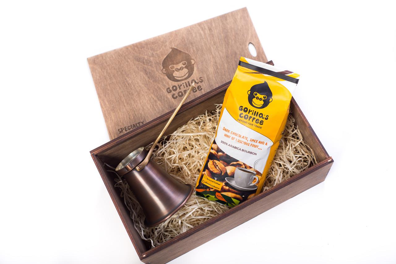 Турка 320мл (подарунковий набір) Gorilla's Coffee Патина