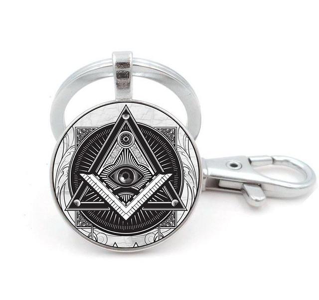 брелок масоны общий знак монохром
