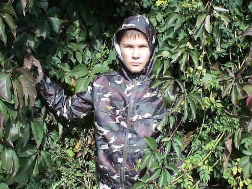 Ветровка дождевик детская камуфляж рост 122 см, фото 2