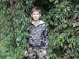 Ветровка дождевик детская камуфляж, фото 2