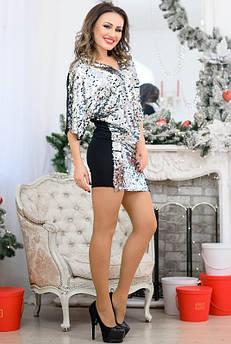 Блестящее платье на Новый год Спайс серебро