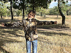 Куртка детская Юниор для мальчиков камуфляж Дубок