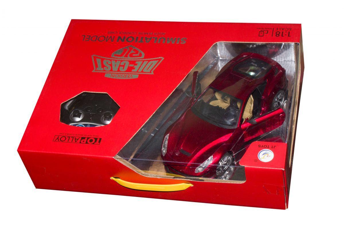 Супер-кар на радиоуправлении с металлическим корпусом (красная), JT0137