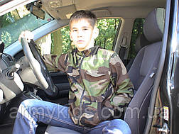 Куртка детская Юниор для мальчиков камуфляж Лес, фото 3