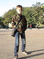 Куртка детская Юниор для мальчиков камуфляж Лес