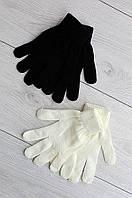 Набор перчаток женских AAA 0781 черный с молочным
