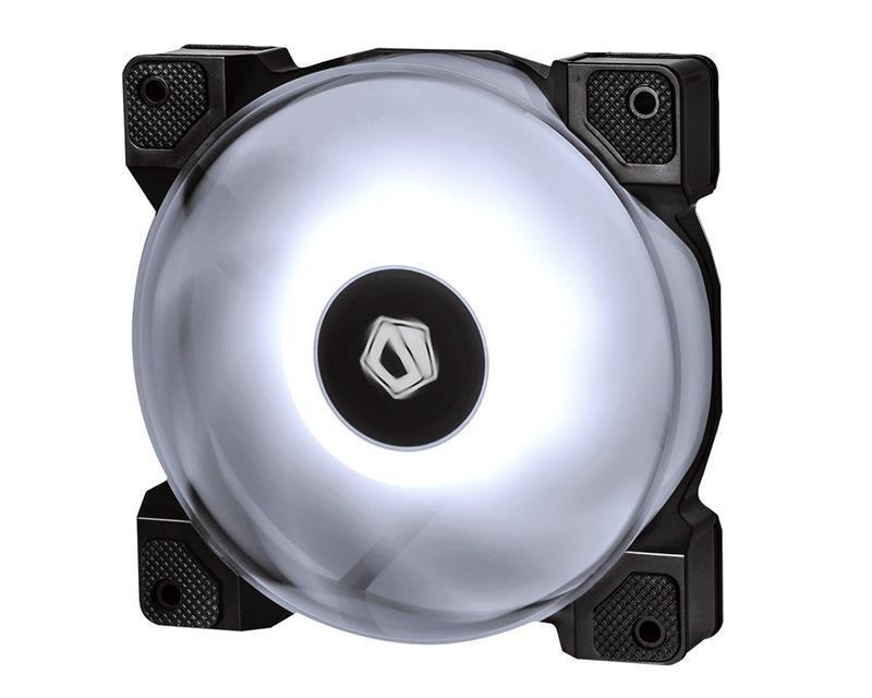 Вентилятор ID-Cooling DF-12025-RGB (Single Pack), 120x120x25мм, 4-pin PWM, черный