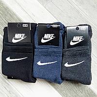 Носки женские спортивные махровые х/б Nike, Athletic Sports, размер 36-40, средние, ассорти, 011250