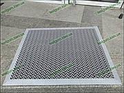 Грязезащитный резиновый коврик Волна 60х90см. серый с резиновым кантом
