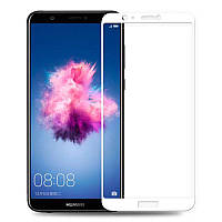 3D Full Glue защитное стекло для Huawei P Smart (клеится вся поверхность) Белый
