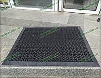 Грязезащитный резиновый коврик Волна-15 60х99см. черный с резиновым кантом