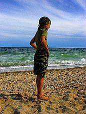 Шорты трикотажные детские для мальчиков камуфляж, фото 3