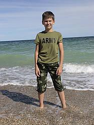 Бриджи детские Кадет для мальчиков камуфляж Березка