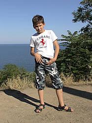 Бриджи детские Кадет для мальчиков камуфляж Омон