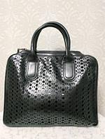 Кожаная сумка черная 2018 2019 с ремешком через плечо