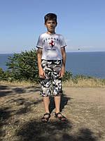 Бриджи детские камуфляжные рост 116 см