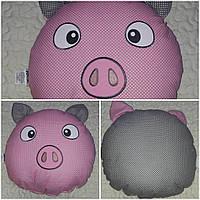 """Авторская подушка-игрушка """"Свинка"""", диам. 38 см., 220/190 (цена за 1 шт. + 30 гр.)"""