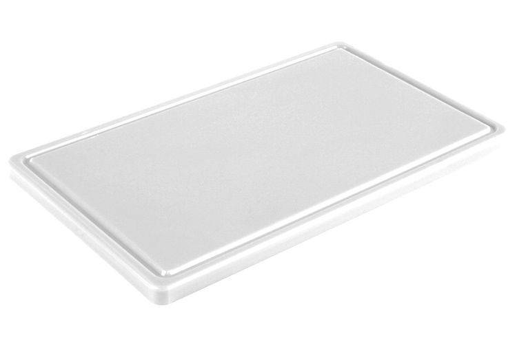 Доска разделочная белая 400х300х20 мм, с желобом Resto line, FoREST