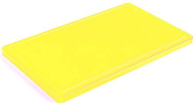 Доска разделочная желтая 400х300х20 мм, с желобом Resto line, FoREST