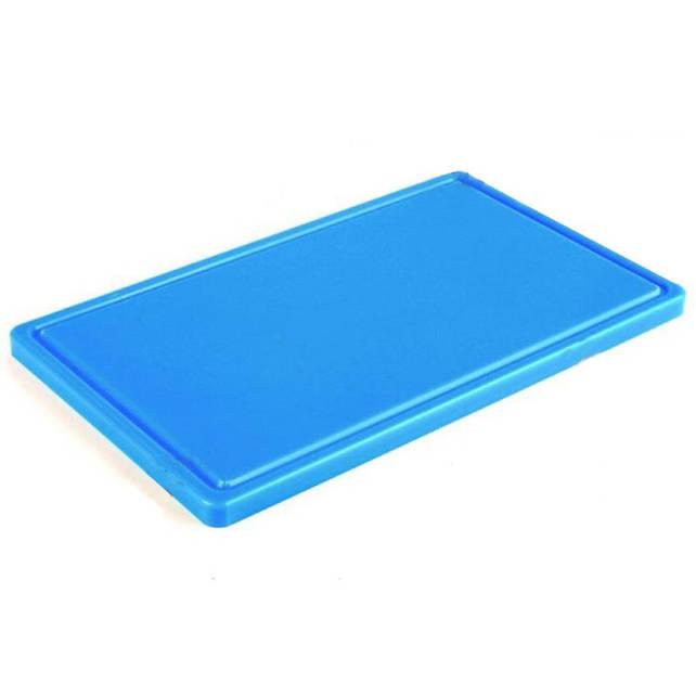 Доска разделочная голубая 500х400х20 мм, с желобом Resto line, FoREST