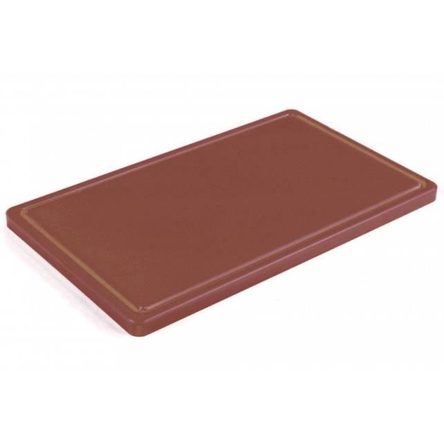 Доска разделочная коричневая 400х300х20 мм, с желобом Resto line, FoREST