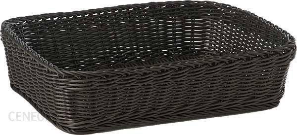 Корзина для хлеба 40х30х10 см. прямоугольная, черная APS