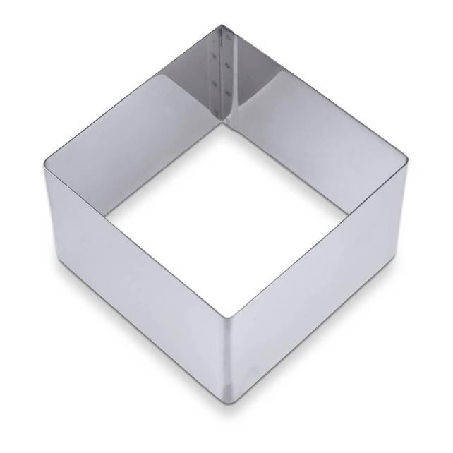 Форма без дная 10х4 см. квадратная, нержавеющая сталь Martellato